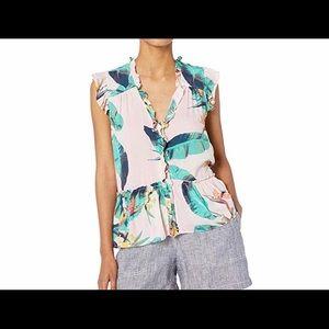Jessica Simpson Peplum short sleeve ruffle top